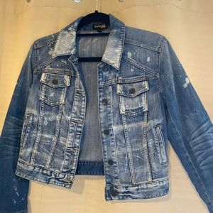 Express Jeans Jean Jacket Size: Small